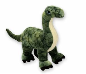 Stofftier Dino Saurier grün mit langem Hals - Plüschtier Fezzi Kuscheltier