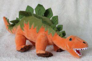 Stofftier Dinosaurier Stegosaurus - Dino Plüschtier orange - Kuscheltier