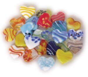 Glas Herz bunt - Dekoherzen - Glasherzen - Streudeko Glasherz