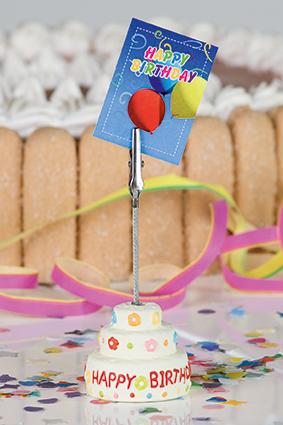 Fotoclip Geburtstagstorte - Tischkartenhalter Torte Happy Birthday