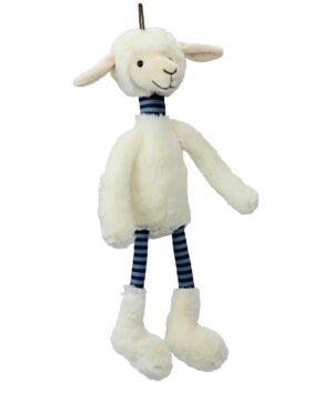 lustiges Schlenkerschaf - Schlenkertier Schaf mit Ringelbeinen - Lamm Plüschtier