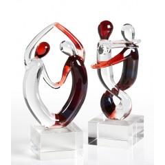 Glas Skulpturen Tanzpaar Samba - Liebespaar Casablanca Dekofigur Tanz - Liebe - Geschenk Unikat