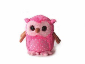 Eule Plüschtier, pink - Schmusetier mit Kordel zum Aufhängen - Spielzeug aus schadstofffreiem Material