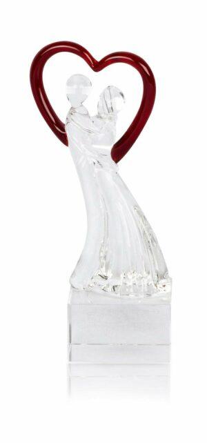 Designer Glas Skulptur Liebespaar - Casablanca Hochzeit Liebe Deko Geschenk Unikat