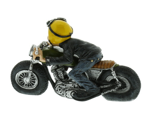 deko figur motorrad biker skulptur motorradfahrer mit. Black Bedroom Furniture Sets. Home Design Ideas