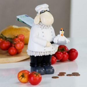 Casablanca Schaf Spardose Koch Skulptur Chefkoch Paul Figur
