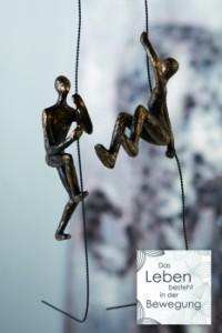 """Kletter Skulptur WandSkulptur Scramble - Mann am Seil kletternd amble"""" - Figuren am Seil Wandhänger 79184.jpg"""