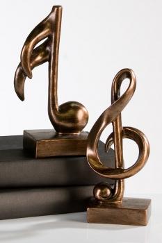 Musik Skulptur Music - Dekofigur Note und Notenschlüssel