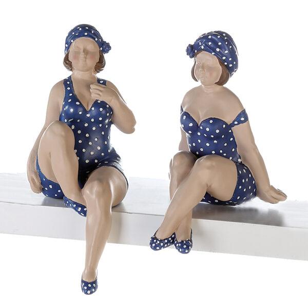 XL Kantenhocker dicke Dame Becky - Nostalgie Badefigur Molly 21-31 cm