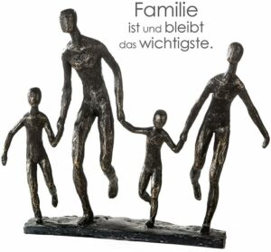 Skulptur Familie - We are Family Dekoobjekt mit Zitatanhänger
