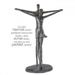 Solidarity Skulptur tanzendes Liebespaar - Titanic Paar auf grauer Basis