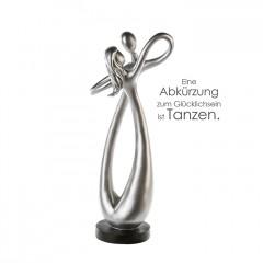 Dance Skulptur - Poly Figuren Liebespaar - Tanzpaar auf schwarzer Basis