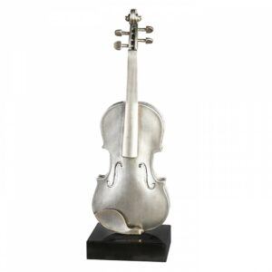 XXL Skulptur Violine auf Mamorsockel - Edle Musik Skulptur
