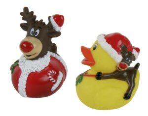 Badequietscheentchen Weihnachtsente mit Elch - Badeente