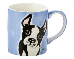 Mila Boston Terrier Becher - 280 ml - Tasse - Henkelbecher - Keramik