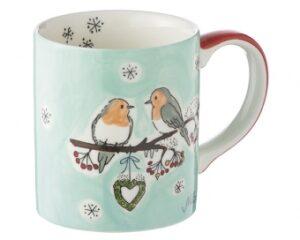 Mila Wintervögel Becher 280 ml - Tasse - Henkelbecher - Keramik