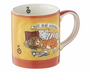 Mila Oommh.. Katze Chill mal wieder Die Yoga Katze ganz entspannt - Becher für die verdiente Kaffeepause