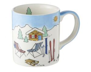 Ski Holiday II Mila Becher 280 ml - Kaffeebecher Wintersport - Geschirr - Keramik
