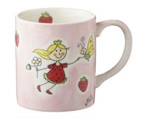 Mila Becher Erdbeer Fee - 280 ml Tasse - Henkelbecher - Keramik