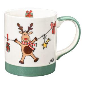 Mila Holly Jolly Becher - 280 ml - Keramik - Elch Weihnachtsbecher Mila 80241