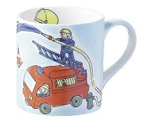 Mila Feuerwehr Becher - Tatü Tata - 280 ml - Tasse - Henkelbecher - Keramik 80315