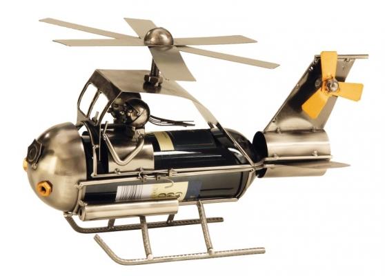 Flaschenhalter Hubschrauber Skulptur Helikopter Weinflaschenhalter aus Metall