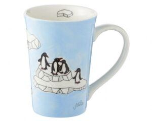 Pinguine Mila Teebecher Pinguin Becher 350ml - Tasse - Henkelbecher - Keramik