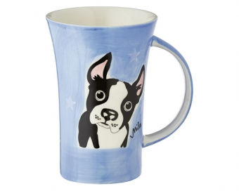 mila boston terrier coffee pot 500 ml tasse henkelbecher keramik gro er becher. Black Bedroom Furniture Sets. Home Design Ideas
