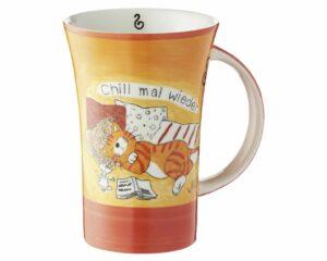 Mila Oommh.. Chill mal wieder Coffee Pot Katze - Keramik Becher 500 ml