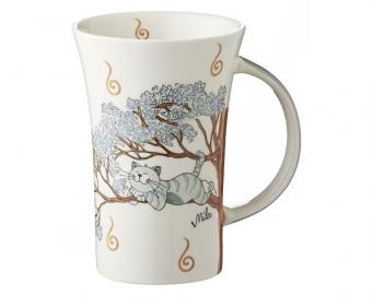 Mila Oommh Pure Relax - Yoga Katze Coffee Pot 500 ml - Tasse - Becher - Keramik