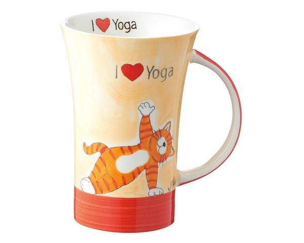 mila oommh i love yoga coffee pot yoga becher 500 ml tasse becher keramik. Black Bedroom Furniture Sets. Home Design Ideas