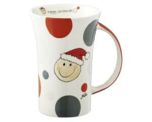 Mila Happy Christmas Coffee Pot - 500 ml - Tasse - Becher - Keramik - weihnachtliches Smilydesign