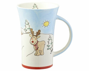 Mila Elch Gustav im Winterland Coffee Pot - 500 ml - Tasse - Becher - Keramik - winterliches Design
