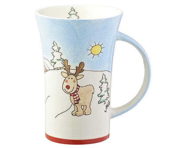 Mila Elch Gustav im Winterland Coffee Pot - 500 ml - Tasse - Becher - Keramik - winterliches Design