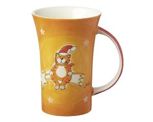 Mila Coffee Pot - Santa Oommh - Yoga Katze - 500 ml - Tasse - Henkelbecher - Keramik