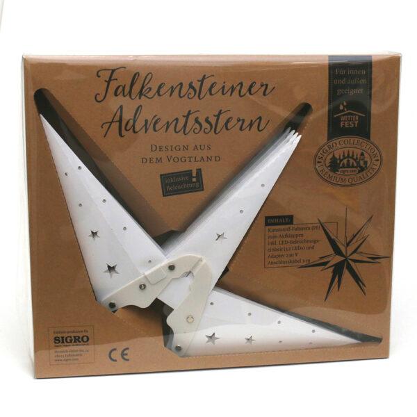 Kunststoff Stern - Falkensteiner Adventsstern wetterfest inkl. mit LED Beleuchtung
