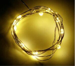 LED Draht Lichterkette, 10 Leds, warm-weiss, batteriebetrieben