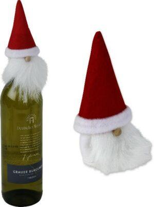 Flaschenkopf Weihnachtsmann - Flaschendeko Weihnachtsmann Geschenk