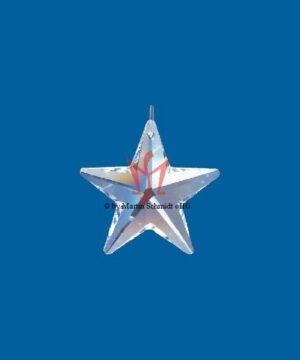BleikristallPrisma Stern, Kristallstern am Perlonfaden (80cm)