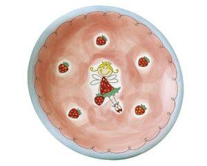 Mila Erdbeerfee - Teller - Geschirr - Keramik Kinder-Teller -