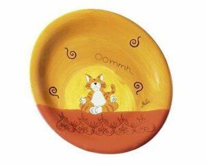 Mila Oommh - Yoga Katze - Teller - Geschirr - KeramikKinder-Teller