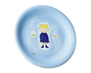 Mila Teller kleiner Prinz - blauer Kinderteller, Keramik
