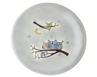 Mila Teller Eulen Familie - Geschirr - Keramik Kinder-Teller
