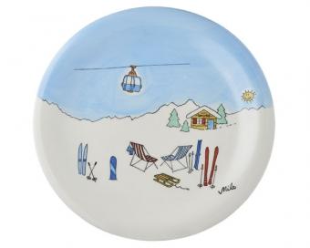 Ski Holiday II Mila Wintersport Teller - Geschirr - Keramik Kinder Teller
