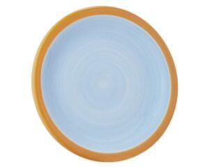 Mila Teller United Colours blau/orange - Essteller - Frühstücksteller - Kuchenteller 22cm