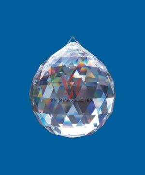 Bleikristallkugel Prisma Kristallkugel Facettenschliff am Perlonfaden - Fensterschmuck - Baumschmuck - Regenbogen Sun Catcher - Kronleuchter Schmuck