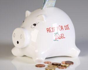 Urlaubssparschwein - Reif für die Insel - Sparschwein Holiday - Sparbüchse