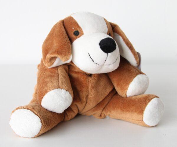 Wärmetier Hund Kuscheltier als Wärmekissen und Kältekissen - Plüschtier mit Körnerkissen