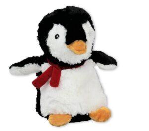 Wärmetier Pinguin, Kuscheltier als Wärmekissen und Kältekissen - Plüschtier Pinguin - Stofftier mit Körnerkissen zum Herausnehmen - Füllung Leinsamen mit Lavendel