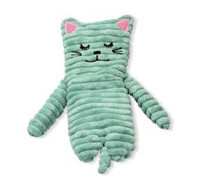 Wärmetier Katze türkis mit Wärmekissen - Füllung mit Keramikperlen
